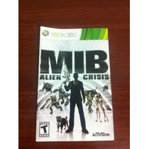 Mib Alien Crisis - Instruction Booklet Original