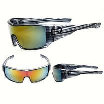 Óculos De Sol Lente Espelhada Azul Unisex Top Qualidade