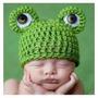 Touca Em Crochê Sapo Para Bebê Fotografia Ou Newborn