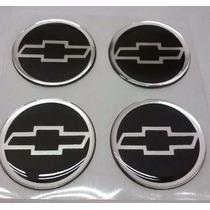 Jogo Emblema Botom Para Roda Esportiva Calota Chevrolet 55mm