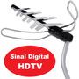 Antena Tv Externa Tv Digital Hdtv + Suporte Universal, Hf