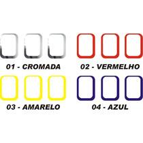 Aro Moldura Cromada Ou Colorida Grade Novo Uno 10/...