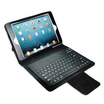 Capa Case Para Mini Ipad Com Teclado Bluetooth + Película