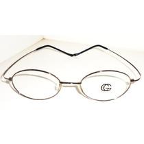 Armação Óculos Grau Titanium Flexivel Cinza Memoria Fechada