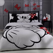 Kit De Jogo De Cama Queen Size - Disney Minnie & Mickey