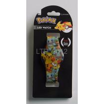 Relógio De Pulso Digital Pokémon Led Watch