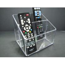 Porta Controle Remoto Acrilico Suporte Controle Tv Dvd Cabo