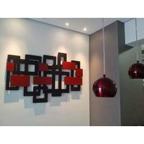 Quadro Abstrato Em Escultura De Mdf Vazado 1,20m