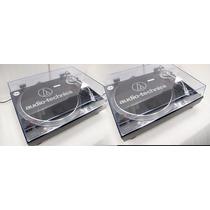 Par Vitrola Toca Discos Audio Technica At-lp120 Usb Dj Black