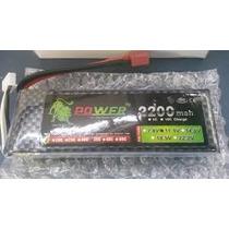 Bateria Lipo 11.1v 2200mah 40c 3s Trex 450 Hk Futaba Jr Os
