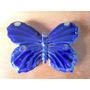 Bibelo De Parede Borboleta Azul Porcelana Raro!