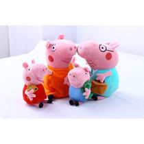 Peppa Pig Família Com 4 Membros - Pronta Entrega