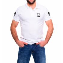 Camisa Masculina Polo Branca Rota Tática Militar