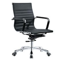 Cadeira Escritório Brun Giratória Diretor C/ Braços Cromados