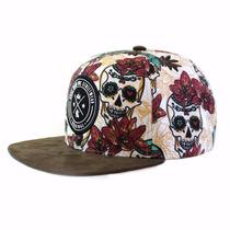 Boné Hosh Wear Snapback Skull Flowers
