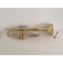 Trompete Blessing Usa Em Bb + Case, Bocal E Surdina Estudo