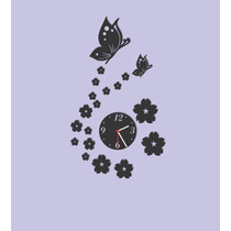 Relógio Decorativo - Espelhado Ou Preto - Decoração Criativa