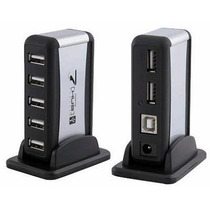 Hub Usb 2.0 Com 7 Portas High Speed: 480mbps C/ Fonte Bivolt