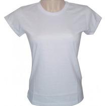 Camisa/camiseta Gola Comum E Gola V Lisa Branca Poliéster