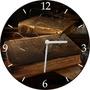 Relógio De Parede Em Vinil, Biblioteca, Livros