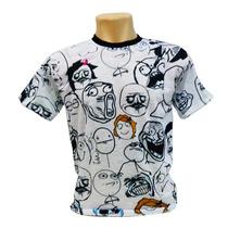 Camiseta Personalizada Memes Poker Face Troll Fuck Yeah
