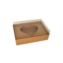 Caixa Coração De Colher 500g - Kraft - Embalagem Com 10 Un.
