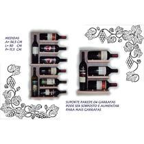 Adega Suporte Parede Para Vinho 4 Garrafas Só 39,00 R$