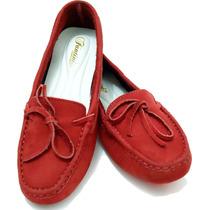 Sapatilha Sapato Feminino Couro Legitimo Dhl Calçados