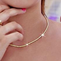 Monreale Corrente E Pulseira Em Ouro 18k Modelo Corda