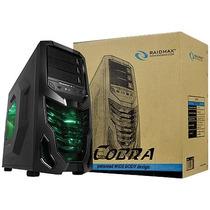 Gabinete Gamer Cobra 502wbg Sem Fonte Preto Com Fan De 120mm