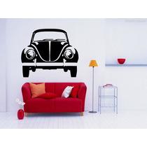 Adesivo Decorativo Parede Fusca Frente Carro Antigo Retrô