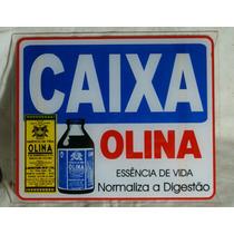 Propaganda Antiga - Placa De Farmácia Olina (caixa)