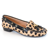 Mocassim Animal Print Green Grass