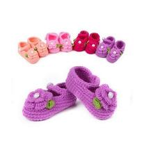 Sapato Importado Bebê Croche Rosa