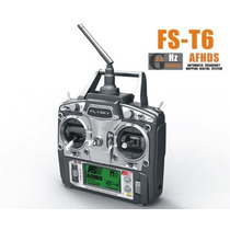 Rádio Controle Fly Sky Fs-t6 2.4ghz 6 Canais Alça Gratis