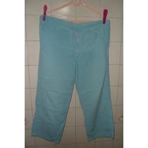 Conjunto Calça Cropped + Blusa Azul - G Frete Grátis!