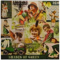 Tela Impressa Fotos Vintage Green Fullway