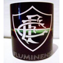 Canecas De Times - Fluminese - Com Alça De Bola De Futebol