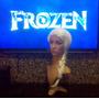 Coroa + Brincos + Peruca Elza Frozen Disney Rainha Do Gelo