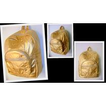 Mochila Feminina Dourada