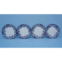 Antigo Prato Borrao 19cm Iris Royal Pottery (valor Unitário)