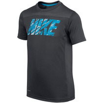 Camiseta Infantil Masculina Dri-fit Hyper Speed Preta Nike