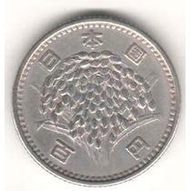 Moeda Japão - 100 Yen - 1959 (ano 34) - Prata - Hirohito