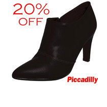 20%off Ankle Boot Piccadilly 8,5 Cm Preto Conforto 722014
