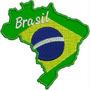 Patch Bordado Aplique Mapa Do Brasil 8,5cm Copa 2014 Tma3