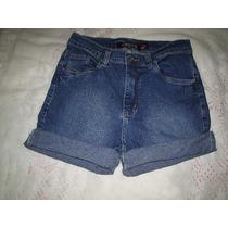 Shorts Jeans Cintura Alta Tamanho 38 Frete Gratis