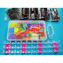 Kit Fabrica Tear 1200 Elasticos P/ Pulseiras Loom Bands