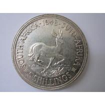 África Do Sul Prata 800 Moeda 5 Shilling 1948