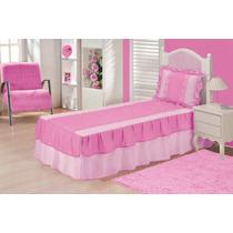 Colcha Juvenil Solteiro 2,10 X 0,90 Pink