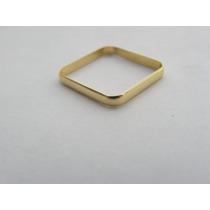 Santa Joia - Anel Quadrado Em Ouro Amarelo 18k